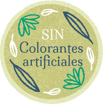 Sin colorantes artificiales